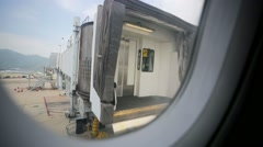 Airport gangway Stock Footage
