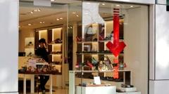 Geox footwear store. Stock Footage