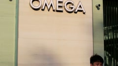 Omega logo. Stock Footage
