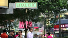 Rolex shop sign. Stock Footage
