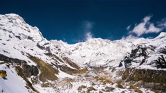 4k Timelapse of Annapurna I Stock Footage