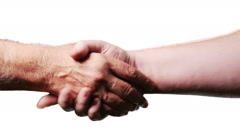 2154 Hand Shake with White Background, HD Arkistovideo