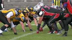 Slow Motion Sport American Football Rugby Game players Tackling in field Stock Footage