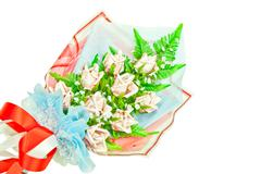 Bouquet of artificial banknote flowers Stock Photos