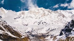 Stock Video Footage of 4k Timelapse of Annapurna I