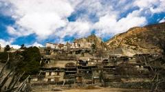4k timelapse mountain village Braka Stock Footage