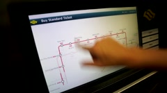 Woman buy MRT tickets Stock Footage