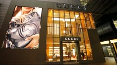 Gucci store. Stock Footage