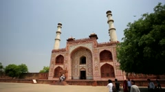 The tomb of Akbar the Great Stock Footage