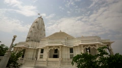 Male backpacker visit Birla Mandir Stock Footage
