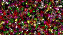 Gem Stones Glittering as water flow Stock Footage