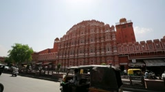 Hawa Mahal, Palace of Winds. Stock Footage