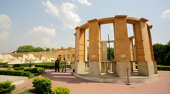 People visit Jantar Mantar Stock Footage