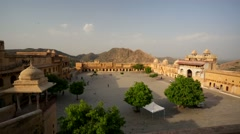 People visit Amber Fort Stock Footage