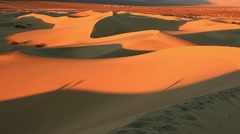 Sand dunes in the Death Valley, California , USA Stock Footage