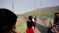 Ram Jhula bridge Stock Footage