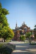 hospital de la santa creu i sant pau, barcelona - stock photo