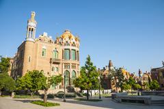 Hospital de la santa creu i sant pau, barcelona Stock Photos