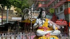 Lord Shiva Fountain Stock Footage