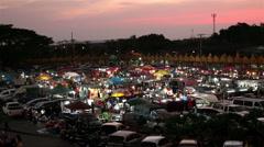Weekend market in samutprakarn ,Thailand Stock Footage