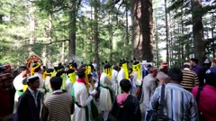 Ceremony near the Hadimba Temple Stock Footage