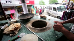 Making of chapati. Stock Footage