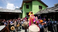 Ceremony inside Vashisht Temple. Stock Footage