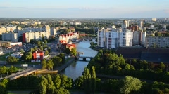 Ethnographic and trade center. Kaliningrad Stock Footage