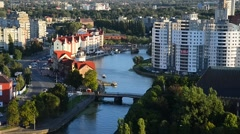 Ethnographic and trade center. Kaliningrad Stock Footage