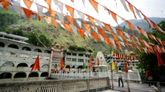 View of the Manikaran. Stock Footage