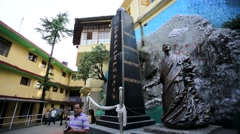 Tibetan national martyrs' memorial. Stock Footage