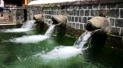 Sacred water springs Stock Footage