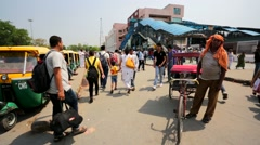 Rickshaw driver Stock Footage