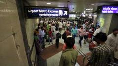 Delhi metro Stock Footage