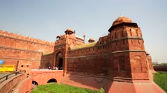 People visit the Red Fort Stock Footage