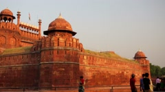 View of the Red Fort Stock Footage