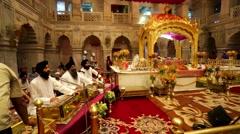 Gurudwara Sis Ganj Stock Footage