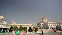 Gurdwara Bangla Sahib. Stock Footage