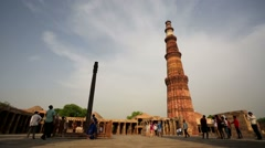 Qutub (Qutb) Minar Stock Footage