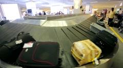 Baggage conveyer belt. Stock Footage