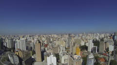 Aerial view of buildings  in the city of Sao Paulo, Brazil. 4K Copan Stock Footage