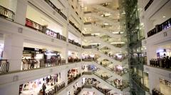 Stock Video Footage of Berjaya shopping complex