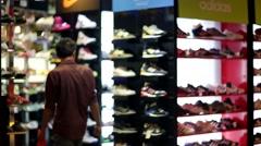 Adidas store. Stock Footage