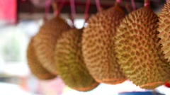 King of fruits, durian Stock Footage