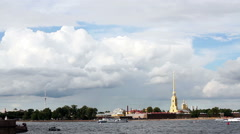 Saint-Petersburg, Peter and Paul fortress Stock Footage