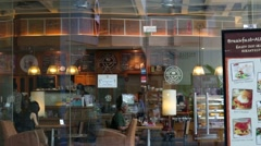 Coffee Bean & Tea Leaf outlet Stock Footage