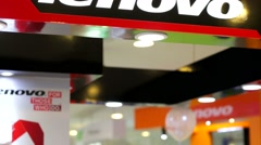 Lenovo store Stock Footage