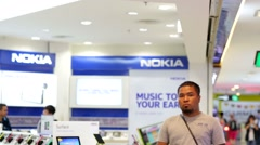 Nokia store Stock Footage