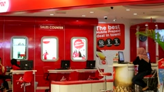 Air Asia sales counter. Stock Footage