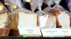 Bread in a shop Stock Footage